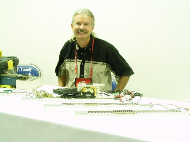 Testtraxx and me at the 2006 National Narrow Gauge Convention in Durango, Colorado...