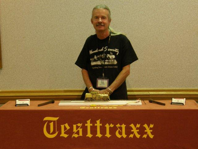 The NEW professional Testtraxx, On2 Overland Gilpin Shay #5 and me at the 2008 National Narrow Gauge Convention in Portland, Oregon...