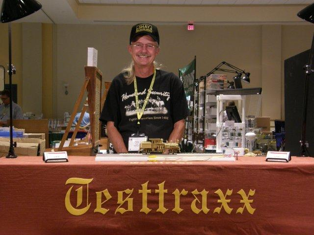 The NEW professional Testtraxx, On2 Overland Gilpin Shay #5 and me at the 2010 National Narrow Gauge Convention in St. Louis, Missouri...